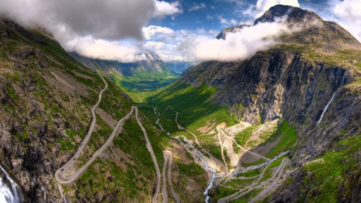 Удивительная Лестница троллей: самая популярная горная трасса в Норвегии