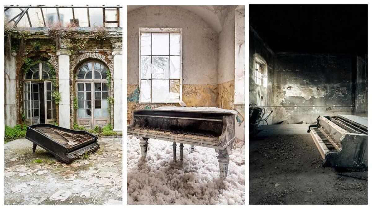 Фотограф і піаніст 10 років шукав у Європі покинуті фортепіано: фото