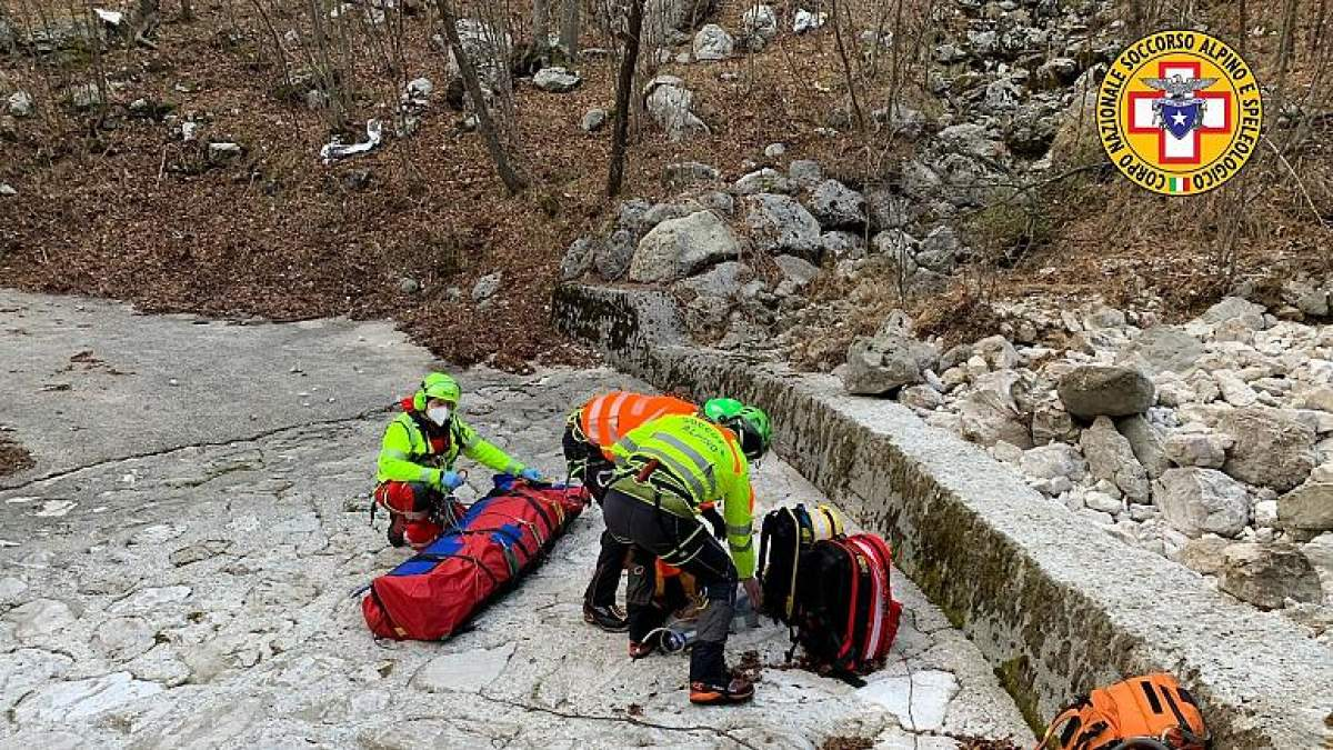 Собака спасла хозяина, который семь дней пролежал с переломом в горах