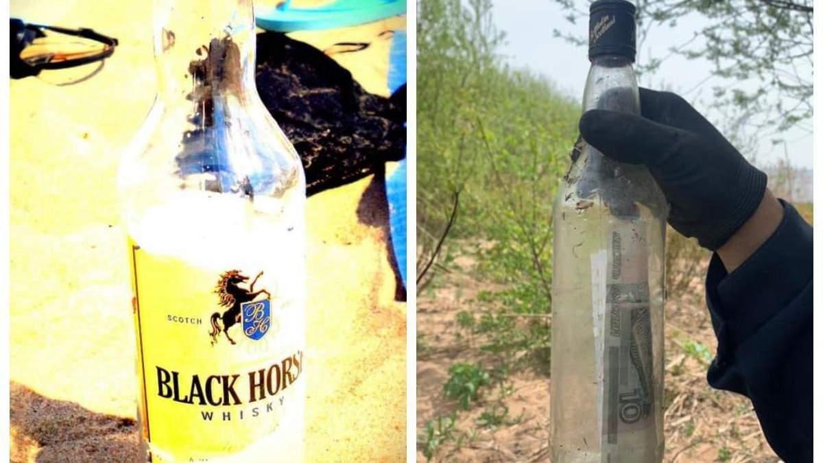 Женщина нашла бутылку через 10 лет