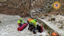 Собака врятувала господаря, який сім днів пролежав з переломом у горах