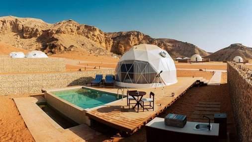 Гламурный кемпинг в пустыне: в ОАЭ открыли первый комфортабельный отель для экотуристов